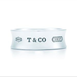 Authentic Tiffany & Co Sterling Silver 1837 Ring